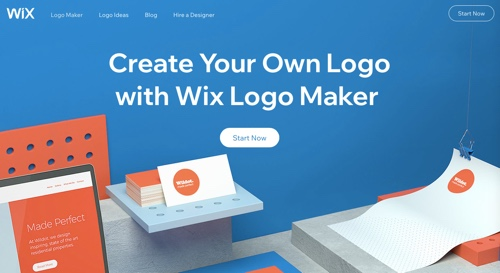 Home page of Wix Logo Maker