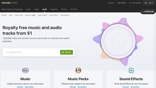 Home page of AudioJungle