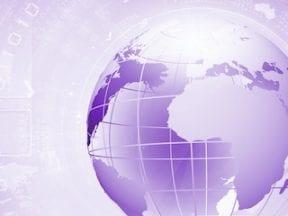 Illustration of a purple globe