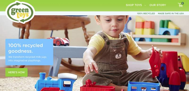 Home page of Green Toys