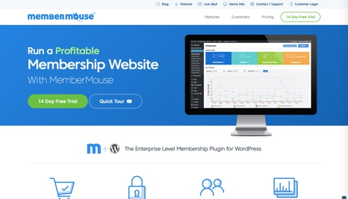 Home page of MemberMouse