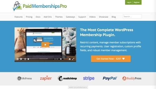 Page d'accueil des abonnements payants Pro