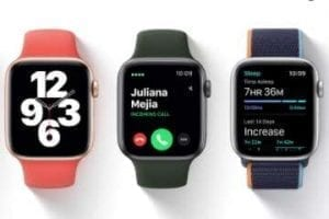 Partial screenshot of Apple Watch product page