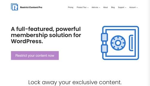 Restreindre la page d'accueil de Content Pro