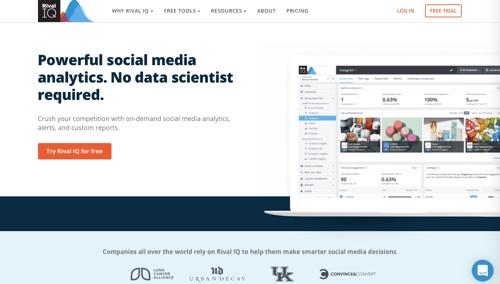 Home page Rival IQ