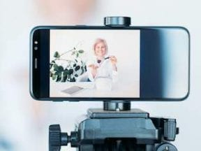 Image of a smartphone on a tripod