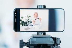 Image of a smartphone on a tripod