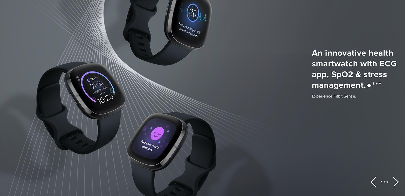Page de la montre intelligente Fitbit, axée sur les données médicales.
