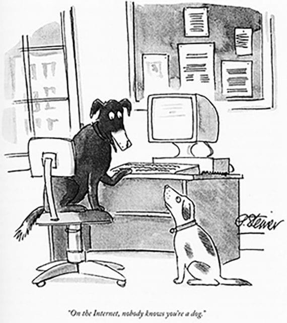 Screenshot of the New Yorker cartoon
