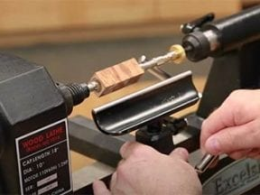 Photo of a lathe turn wood for a pen