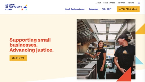 Home page of Accion Opportunity Fund