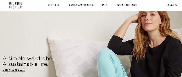 Eileen Fisher home page