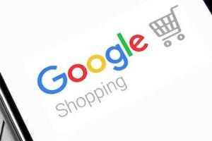 Image of Google Shopping log on a smartphone screen