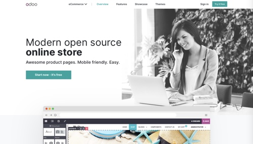 Home page of Odoo