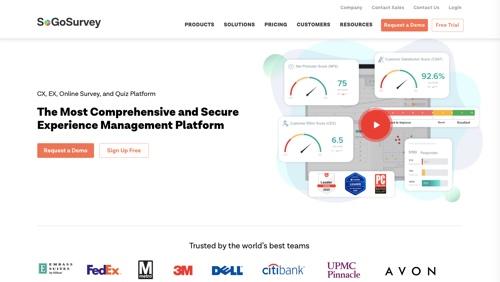 Page d'accueil de SoGoSurvey
