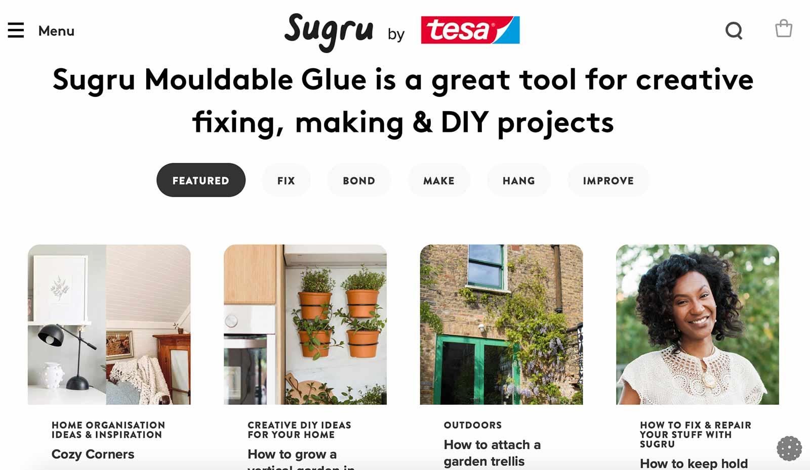 Sugru home page
