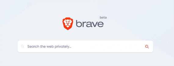 Screenshot of the Brave Search web page.
