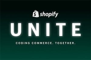 "Screenshot of the ""Shopify Unite"" logo"