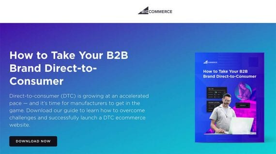 Screenshot of a BigCommerce's guide page.