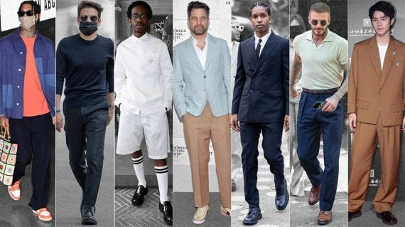 Image from Mr. Porter showing well-dressed men worldwide