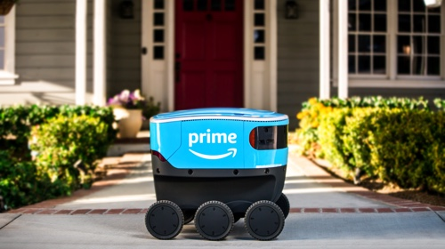 Photo of an Amazon Scout vehicle