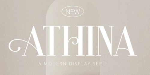Home page of Athina font