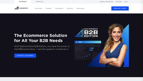 Page d'accueil: Édition B2B BigCommerce