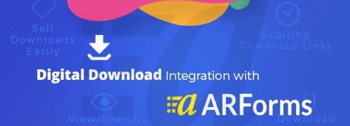Home page of Digital Download with ARForms