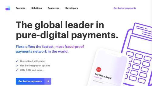 Home page of Flexa