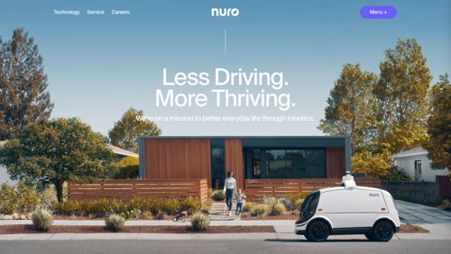 Home page of Nuro