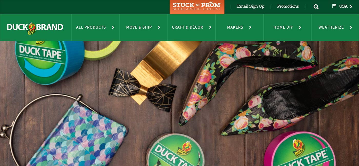 Duck Tape home page