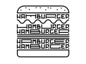 Sample Space font that's shaped like a hamburger