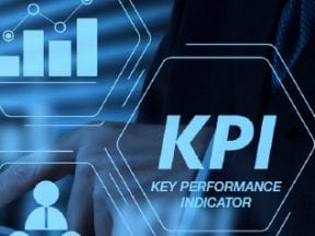 """Illustration with a graph and the words """"Key Performance Indicator'"""