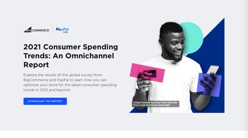 """Web page of """"2021 Consumer Spending Trends: An Omnichannel Report"""""""