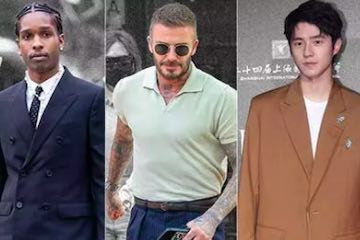 """Screenshot of three males from Mr. Porter's """"best dressed"""" guide"""