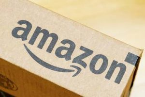 Amazon logo on a box