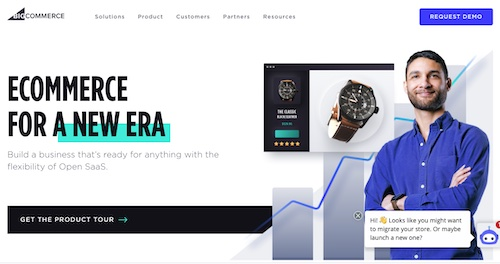 Home page of BigCommerce