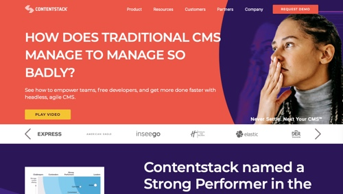 Home page of Contentstack