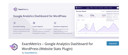 Home page of ExactMetrics