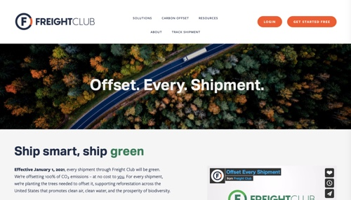 Home page of Freight Club