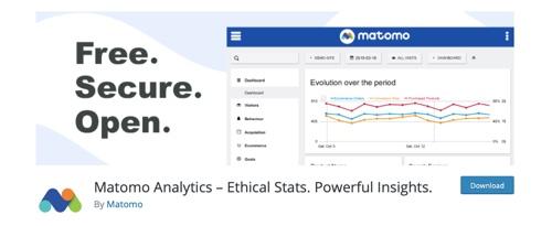 Home page of Matomo Analytics