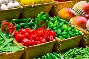 Photo of fresh fruits and vegetables