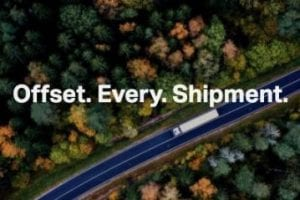 """Screenshot from Freight Club eading """"Offset Every Shipment"""""""
