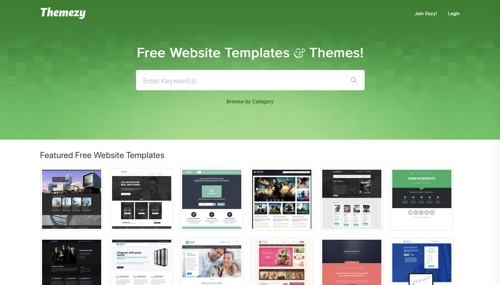 Home page of Themezy