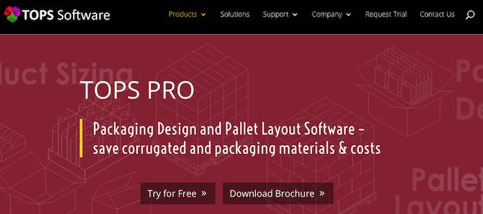 Screenshot of Tops Pro software page from Tops Software
