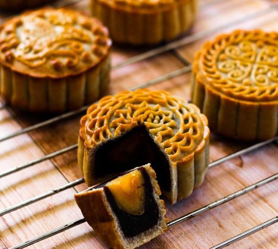 Photo of mooncakes, which resemble cupcakes