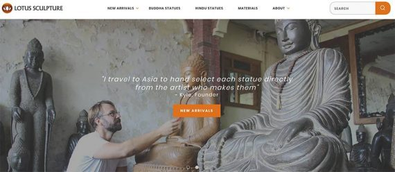 Screenshot of Lotus Sculpture home page