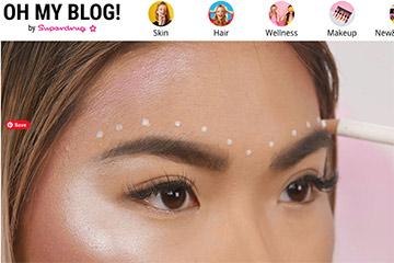 Screenshot from Superdrug's makeup tutorial