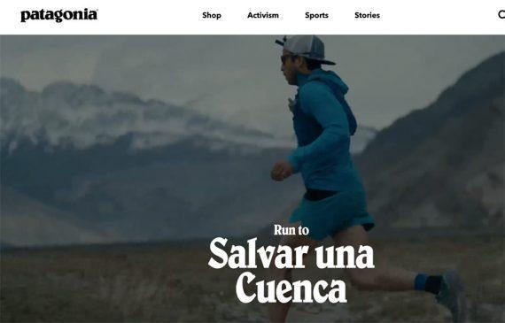 Screenshot showing a male running in mountainous setting, titled Run to Salvar Una Cuenca.