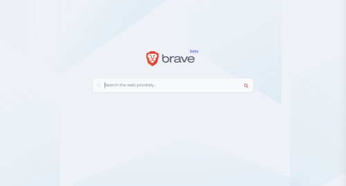 Home page of Brave